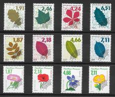France Préo N°232 à 243 1994-98 Arbre Feuille Fleur ** - Precancels