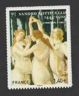 """Timbre Adhésif  - 509     - 2010 -    Série Artistique """" Sandro Botticelli """" Peintre Italien - Frankreich"""