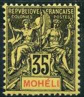 Moheli (1906) N 9 * (charniere) - Neufs