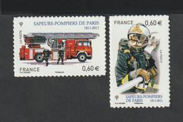 Timbre Adhésif  - 2011  -  601- 602 -  Bicentenaire De La Brigade Des Sapeurs Pompiers - Frankreich