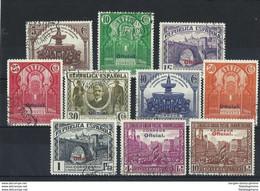 ESPAÑA 620/9 En Usado. Cat.77 € - 1889-1931 Reino: Alfonso XIII