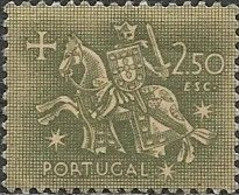 PORTUGAL 1953 Medieval Knight - 2e.50 - Green On Yellow MH - 1910-... République