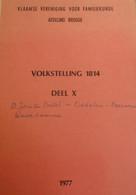 Volkstelling 1814 - Oedelem Beernem Waardamme Sint-Joris Ten Distel - Genealogie - Stamboom - Storia