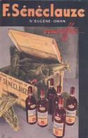Publicité, F. Sénéclauze Vin D'Algérie Avec Publicité Au Verso (6396) - Publicidad