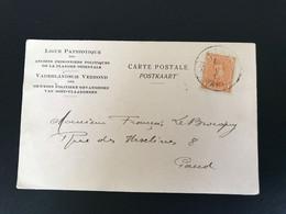 """Postkaart OBP 135 - 1c Oranje Als Enkelfrankering GAND - GAND """"Ligue Patriotique"""" [S] - 1915-1920 Albert I"""