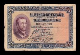 España Spain 25 Pesetas San Francisco Xavier 1926 Pick 71a Serie B BC F - [ 1] …-1931 : Prime Banconote (Banco De España)