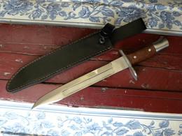 Couteau De Chasse Poignard Forme Baionnette Avec Etui Long 31cm Dont 22 Cm De Lame Inox - Knives/Swords