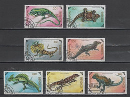 (S1737) MONGOLIA, 1991 (Lizards). Complete Set. Mi ## 2285-2291. Used - Mongolia