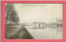 BRAY SUR SEINE LE PONT DU CHEMIN DE FER CARTE COLORISEE EN BON ETAT - Bray Sur Seine
