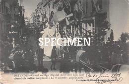 Grande Cortège Déguisé 1908 - Arrivée Du Ballon Dirigeable La Wallonie Au Pöle Nord - Ostende - Oostende - Oostende
