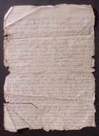 Manuscrit Du XVIIIe Siècle - Cantal - Saint-Flour - Protagonistes Dénommés Marianne Bonnafos épouse Rouget Et Autres - Manuskripte
