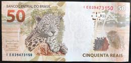 BRAZIL Banknote 2nd Real Family Series Cédula R$ 50 IE 039473150 Meireles E Goldfajn UNC Jaguar Lince - Brasilien
