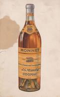 Pub. Cognac J.G.MONNET& Cie. Cahet Au Dos De Raoul Leroy à La Madelaine. Nord. - Alcohols