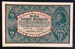 Polonia Poland 1/2 Marki Polskiej 1920 Pick#30 SC UNC Lotto 2682 - Poland