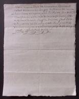 Manuscrit Du XVIIIe Siècle - Ain Et Haute Loire - Oyonnax Et Le Puy - Protagonistes Dénommé Bouvet Cadet Et Autre - Manuskripte