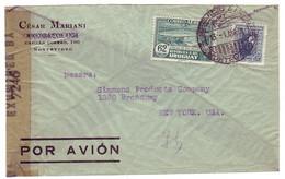 Censored Cover Uruguay - USA 1941 - Seconda Guerra Mondiale