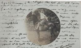 POST CARD C51 Photographie Non Située D'un Cavalier-cheval- Envoyée De Paris - Fotografía