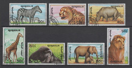 (S1739) MONGOLIA, 1991 (African Animals). Complete Set. Mi ## 2293-2299. Used - Mongolia