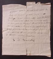 Manuscrit Du XVIIIe Siècle - Cantal - Saint-Flour - Protagonistes Dénommés Combes Et Bonnafos - Manuskripte