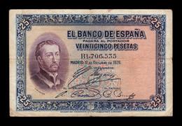 España Spain 25 Pesetas San Francisco Xavier 1926 Pick 71a Serie B BC+ F+ - [ 1] …-1931 : Prime Banconote (Banco De España)