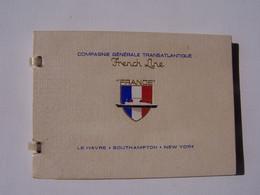 Carnet 18 Cartes Postales Du Paquebot France  ,Compagnie Générale Transatlantique, - Boats