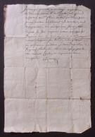 Manuscrit Du XVIIIe Siècle - Cantal - Saint-Flour - Protagonistes Dénommés Gilbert Et Combes - Manuskripte