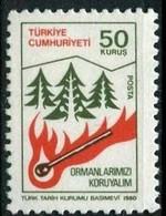 1980 TURKEY FOREST REGULAR ISSUE STAMP MNH ** - Neufs