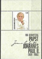 LIECHTENSTEIN, 2020, MNH, POPES, POPE JOHN  PAUL II, PERSONALIZED S/SHEET - Papes