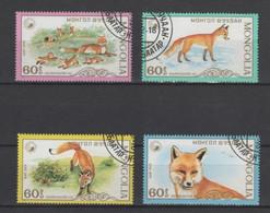 (S1845) MONGOLIA, 1987 (Red Fox). Complete Set. Mi ## 1934-1937. Used - Mongolia