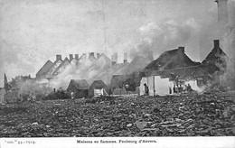 B20-1276-ANVERS-MAISONS EN FLAMMES-FAUBOURG D'ANVERS - Bélgica