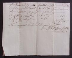 Manuscrit Du XVIIIe Siècle - Loire Et Rhône - Saint-Étienne Et Lyon - Protagonistes Dénommés Bouvet Cadet Et Olion - Manuskripte