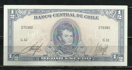 CHILE - BILLETE DE 1/2 ESCUDO SIN CIRCULAR - Cile