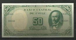 CHILE - BILLETE DE 50 ESCUDOS SIN CIRCULAR - Cile