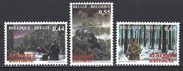 Belgique Yv 3316/18-cob 3329/31  Guerre 40-45-Remember Bastogne ** - Militaria