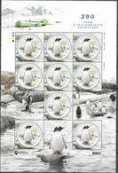 UKRAINE, 2020, MNH, ANTARCTIC, BIRDS, PENGUINS, SHEETLET OF 9v - Pinguini