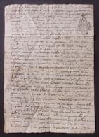 Manuscrit Du XVIIIe Siècle - Cantal - Saint-Flour - Protagonistes Dénommés Hugon, Combes Et Autres - Manuskripte