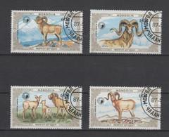 (S1853) MONGOLIA, 1987 (Mountain Sheep). Complete Set. Mi ## 1868-1871. Used - Mongolia