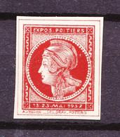 """Vignette """"MINERVE De Poitiers"""" - Emise Pour L'exposition Philatélique De Mai 1937 - Très Beau. - Briefmarkenmessen"""