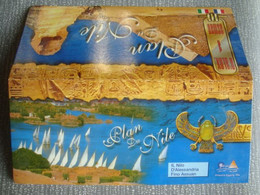 PLAN DU NILE. IL NILO D'ALESSANDRIA FINO ASSUAN - EGYPT, 1990 APROX. NILE ALEXANDRIA ASWAN - Dépliants Turistici