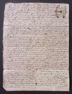 Manuscrit Du XVIIIe Siècle - Cantal - Saint-Flour - Protagonistes Dénommés Jean Et Guillaume Combes Et Autres - Manuskripte