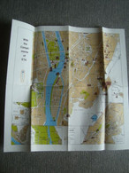 TOURIST MAP OF CAIRO AND ENVIRONS - EGYPT, 1990 APROX. 42X42 CM. - Dépliants Turistici
