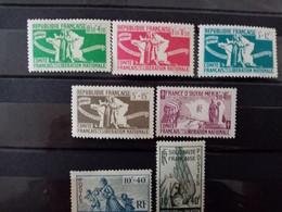 FRANCE LIBRE . 1943-44. N° 1 à 5 Et PA 1 . NEUFS+  Côte Yvert 18 € - Liberazione