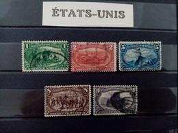 ETATS UNIS .N° 129 à 134.  Exposition Omaha  . Oblitérés .  Côte Yvert  95 € - Usati