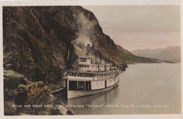 "CANADA : Carte Photo Du Steamer "" Tutshi "" White Pass Et Yukon Route - Yukon"