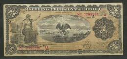 MEXICO - BILLETE DE 1 PESO DE 1914 - USADO - Mexiko