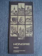 HONGRIE. PROGRAMMES CARTE 1981 - HUNGARY. FRENCH TEXT. - Dépliants Turistici