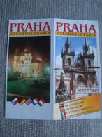 PRAHA. CZECHOSLOVAKIA. OLD TOWN SQUARE - CZECH REPUBLIC, 1990 APROX. - Dépliants Turistici