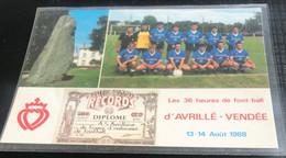 85 Avrillé 1988 2 Vues Menhir Equipe De Football Coccinelle Diplome Guinness 36 Heures D Endurance Noms Des Joueurs - Otros Municipios