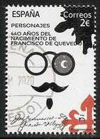 2020-ED. 5428 - Personajes Literatura. 440 Aniversario Nacimiento Francisco De Quevedo - USADO - 1931-Aujourd'hui: II. République - ....Juan Carlos I