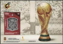 2020-ED. 5429 H.B - Efemérides. Centenario De La Selección Española De Fútbol - USADO - 1931-Aujourd'hui: II. République - ....Juan Carlos I